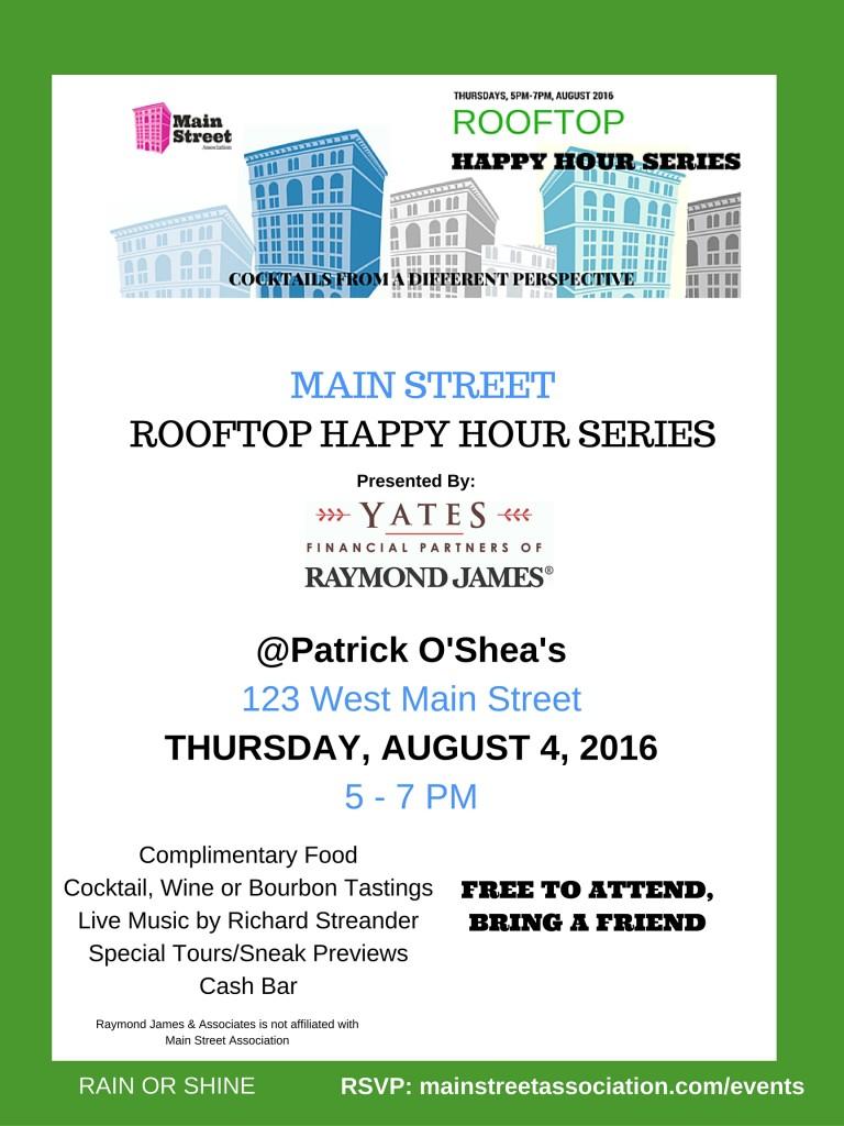 Rooftop Happy Hour Series O'Shea's